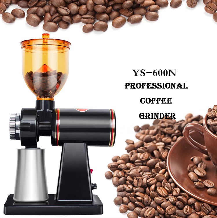 Electric coffee grinder machine small 110v 220v stainless steel conical burr mini commercial coffee grinders for sale
