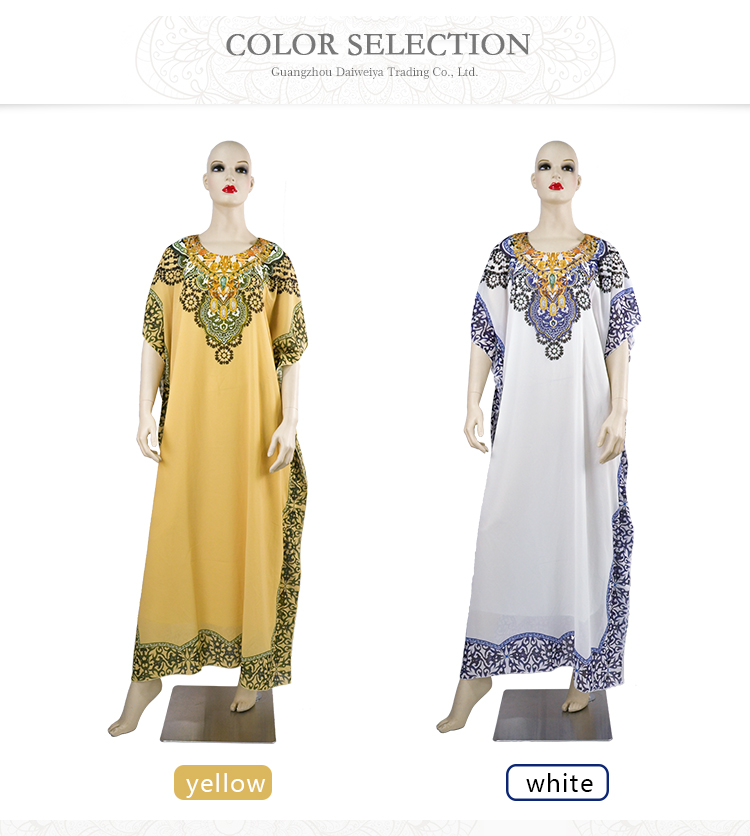 Baru Gaun Afrika Abaya Muslim Gaun