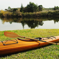 Wooden Handmade Kayak 17' High quality from Vietnam/ racing boat/ home decoration/ water rowing