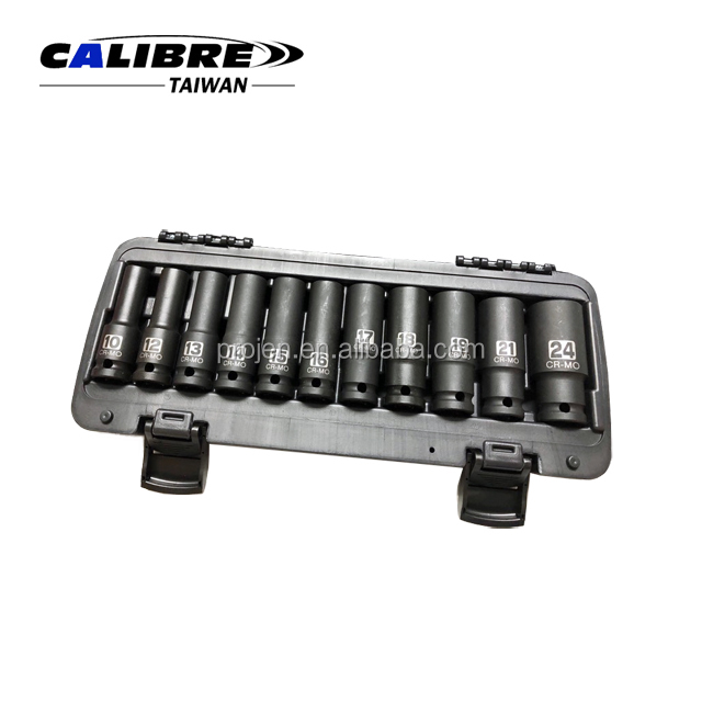 CALIBRE Hand Tools 10-24mm 11pc Deep / Long Impact Socket Set