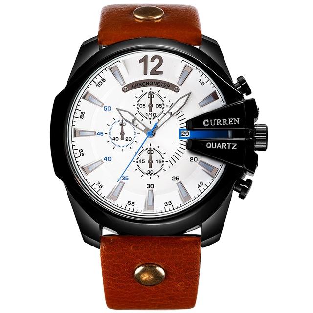Montre Homme curren CURREN 8176 Uhren Top Marke Luxus Wasserdichte Leder Uhren männer Quarz armbanduhr