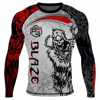 MMA full Sleeve Rash Guard OEM Sublimation printed High Quality BJJ Rash guard St reachable