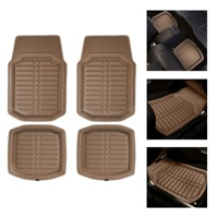 FH Group F14409 PU Leather Deep Tray Floor Mats-Universal Fit for Cars, Auto, Trucks, SUV