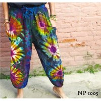 Flower Tie dye unisex cotton harem pants / Yoga pants