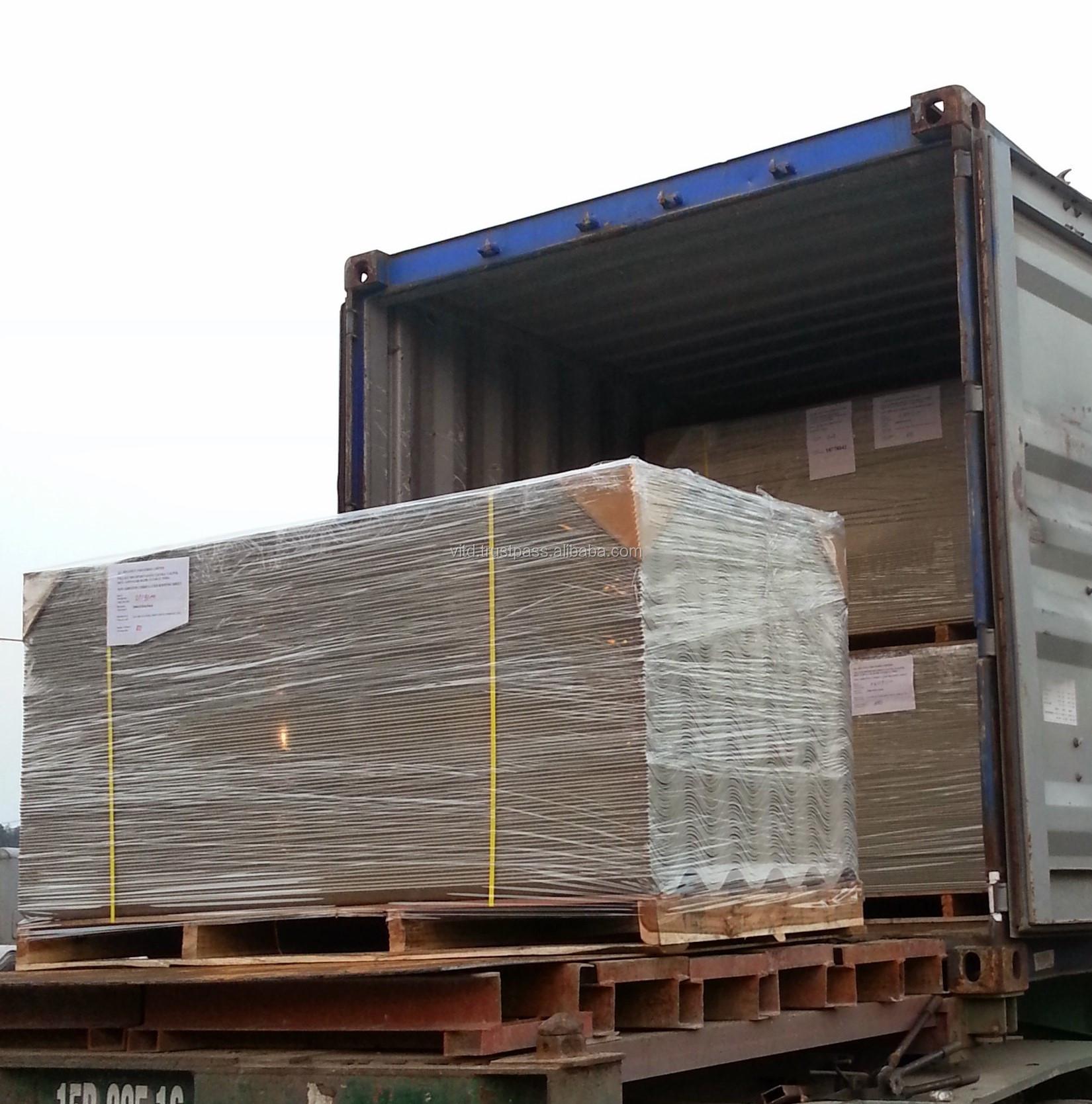 Produk Baru Panjang Rentang Pilihan Yang Baik Dura Pagar Non Asbestos Fiber Semen Atap Bergelombang Lembar Dibuat Di Vietnam Tren Panas