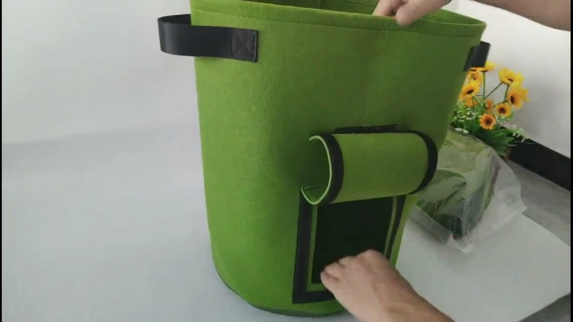 """15 gallonen 19,7*11,8 """"Filz Garten Pflanzer Topf Wachsen Taschen für Garten Innen Gemüse, Blumen, obst, Bäume und Kindergarten"""