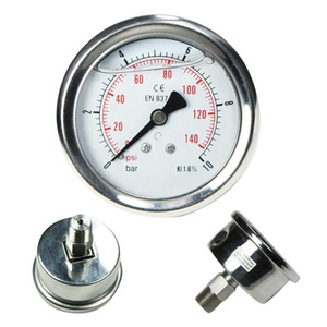 Bourdon tube stainless steel back connection accurate air pressure gauge