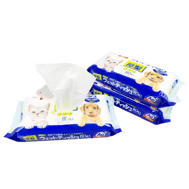 Custom Available Natural Pet Deodorant Small Dog Face Ear Wipes