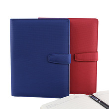 A5 Business Costom Logo Pu Leather Cover Paper Note Book Met Rekenmachine Registers Notebook