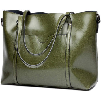 Custom Made Genuine Leather Tote Shoulder Bags For Ladies