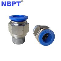 Male Straight Quick Connecting Tube Fittings Air Hose Connector Pneumatic One Touch fitting Fittings