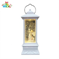 Europe Regional Feature Ornaments Led Battery USB Operate Lantern Angeles Fairy Decoration water snow Globe For Christmas
