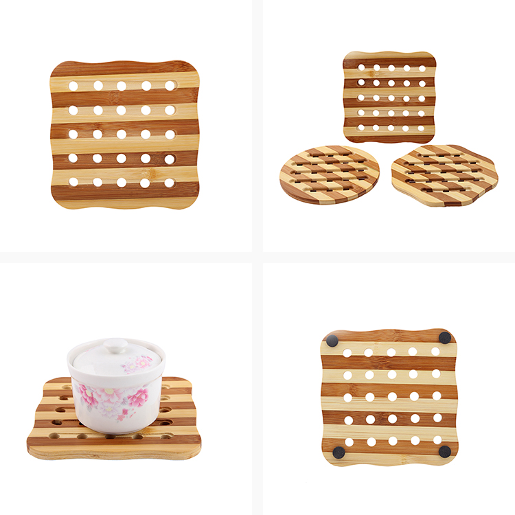 Eco-friendly cheap bamboo dining table mats and coasters