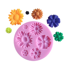 Wholesale Round Flower Soap Silicone Fondant Chocolate Lace Cake Decorating Tools Mold
