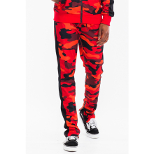 Pleine Camo Camouflage Pantalon de Survêtement Jogger Sweat Bande Simple Cheville Zipper
