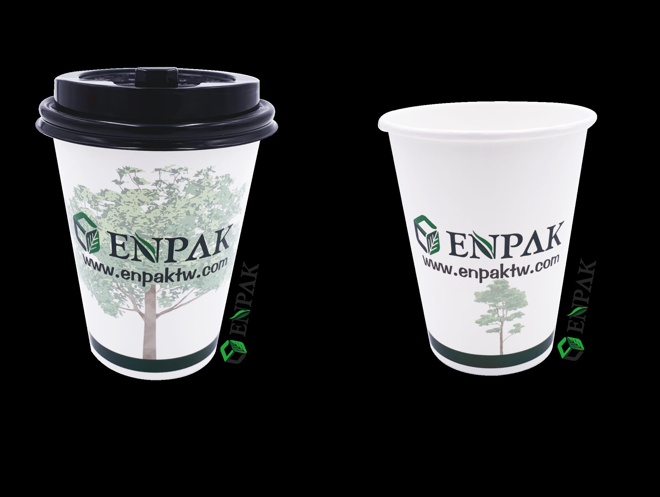 22Ozถ้วยกระดาษสำหรับกาแฟร้อนกับการปรับแต่งการพิมพ์ถ้วยกาแฟ