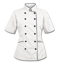 Custom <span class=keywords><strong>chef</strong></span>-uniform restaurant vrouwen chefs uniform jas