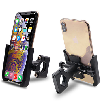 Bicycle Phone Holder Bike Handlebar Phone Mount Support Aluminum Alloy 360 Rotation Motorbike Road Bike Mount Accessories
