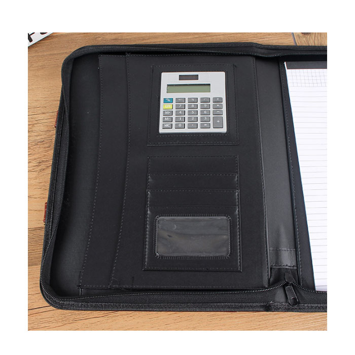 Profession Business Leather Padfolio Organizer with Zipper