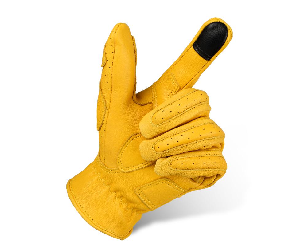 Новый стиль козья кожа перчатки для езды на мотоцикле