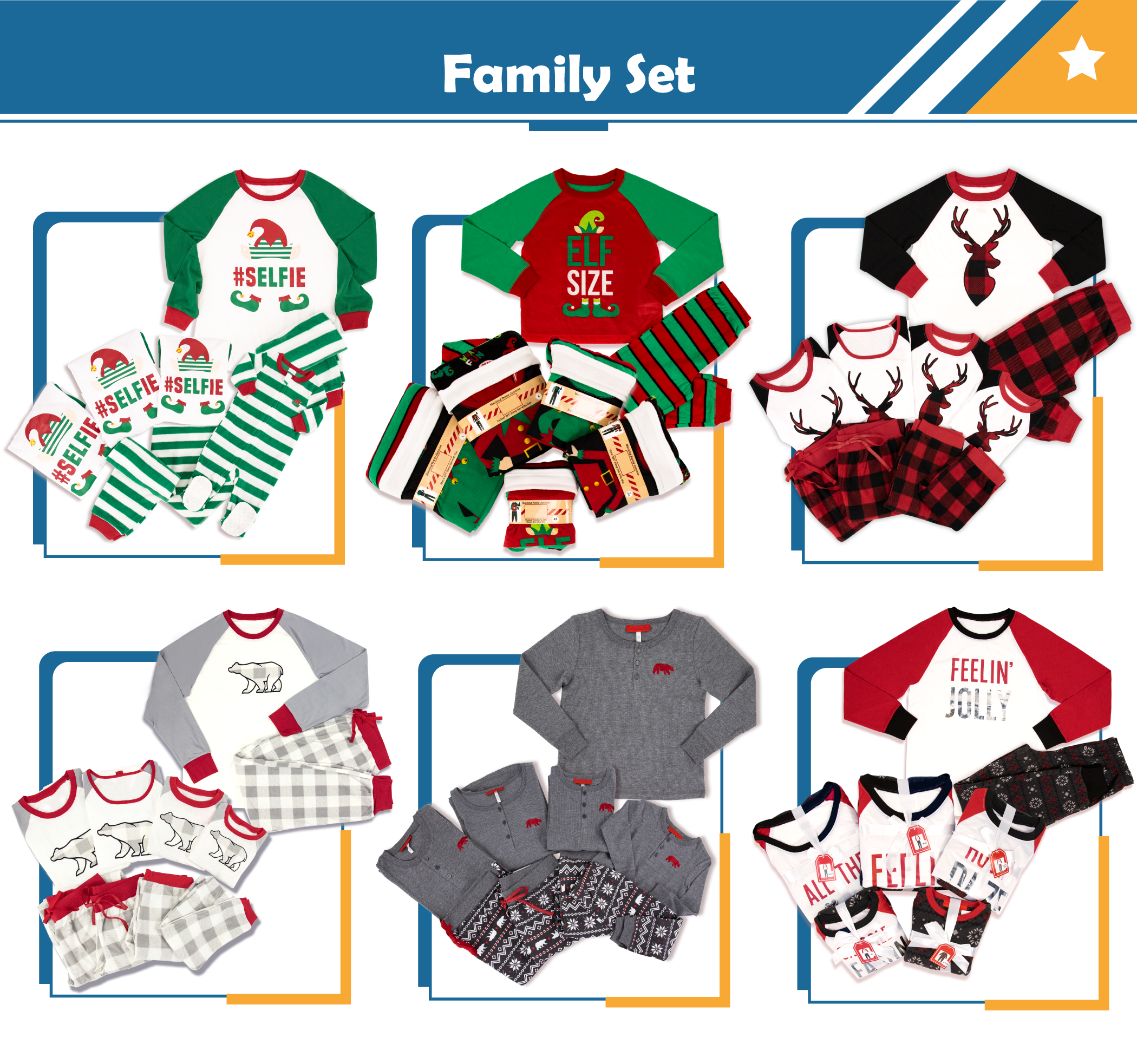 JOYUAN Toddler Boy Xmas Pajamas Set Baby Unisex l Deer l Tartan l Plaid l Black Red l High Quality l OEM l ODM l Custom