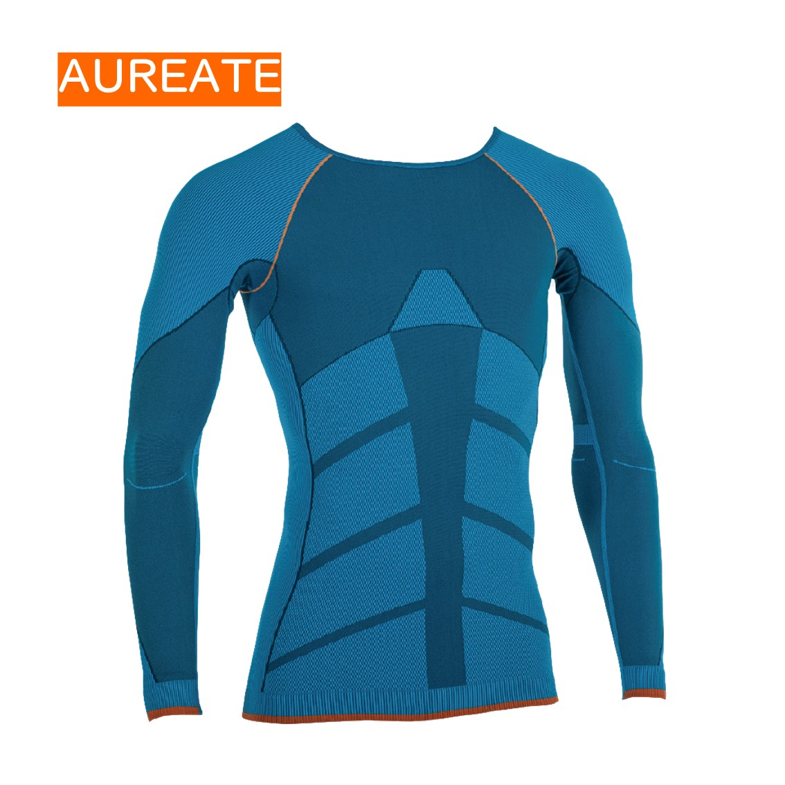 Seamless Body Thermal Underwear Thin Section Round Neck Ladies Long Johns