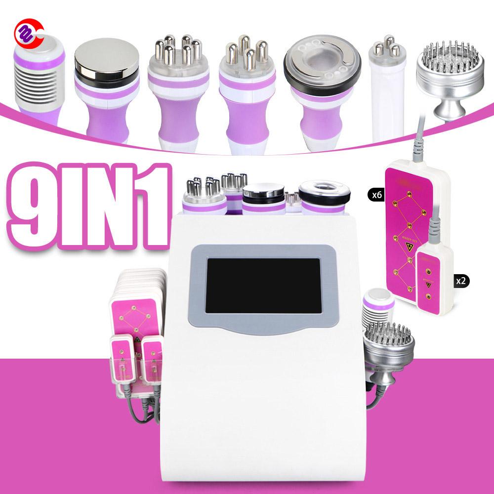9 In 1 Multifunction Beauty Machine/ Lipolaser/ Cavitation/ Vacuum/ Rf Slimming Beauty Machine