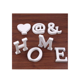 wooden alphabet letters for decoration home wood tableware letters for free stand with custom logo