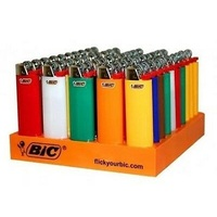 Bic Classic Cigarette Lighters Disposable J3 Size, Assorted Colors - Pack of 6