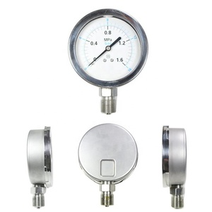 High quality 2.5 inch 63mm all stainless steel pressure gauge with bottom connection