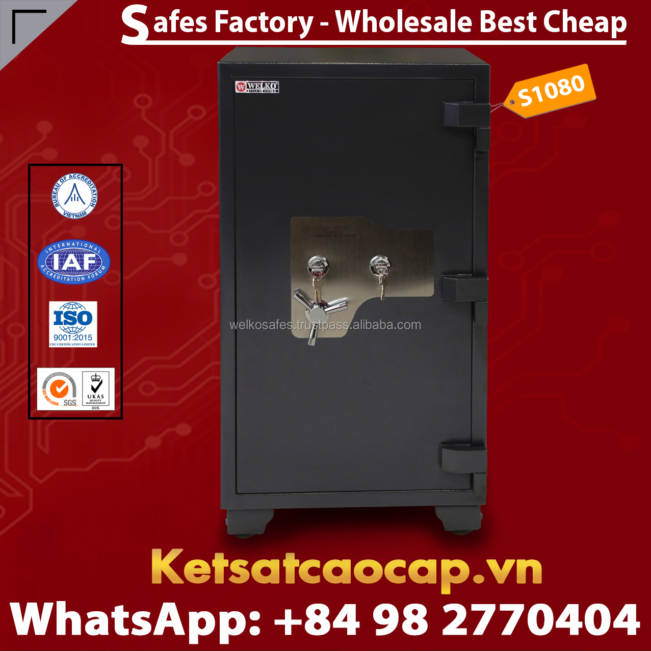 Metal Steel Strong Electronic Digital Key Safes - New Design - New Locking System - High Quality - From WELKO Safes