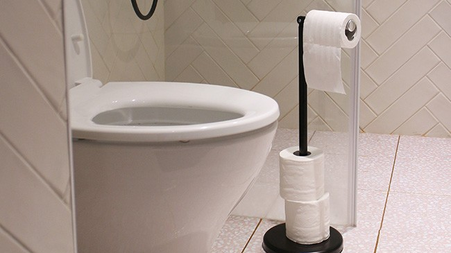 Made in Taiwan bathroom accessories Chrome Black White Free Standing Toilet Tissue Paper Roll Holder stand For Bathroom