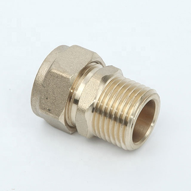 15 mm brass compression water fittings plumbing material connector