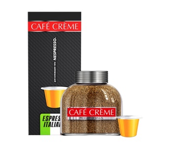 Cafe Creme Espresso, coffee roasted ground coffee in capsules, 5 g/10 PCs