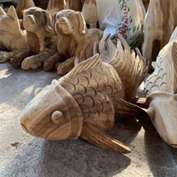 wood carving fish