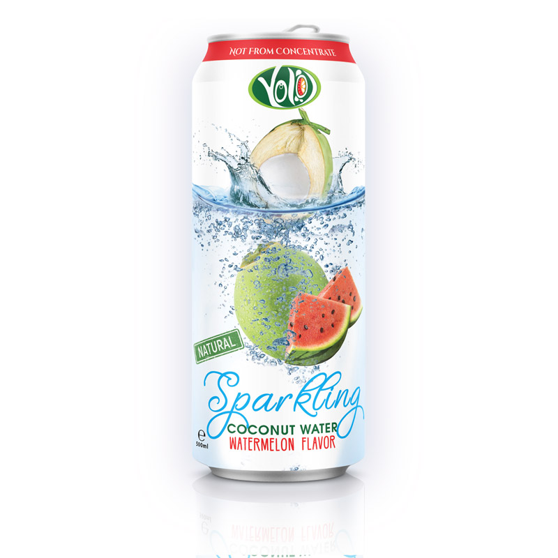 Manufacturer Sparkling Coconut water with Watermelon Juice 100% Organic Premium private label brand softdrink