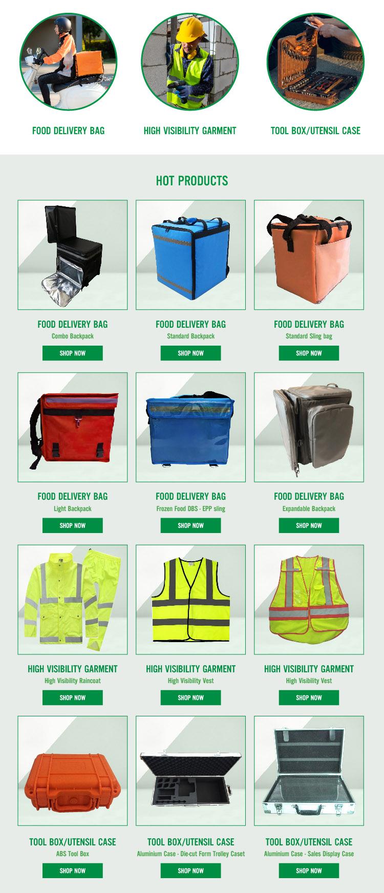 Personnalisez le sac de livraison de nourriture léger imperméable