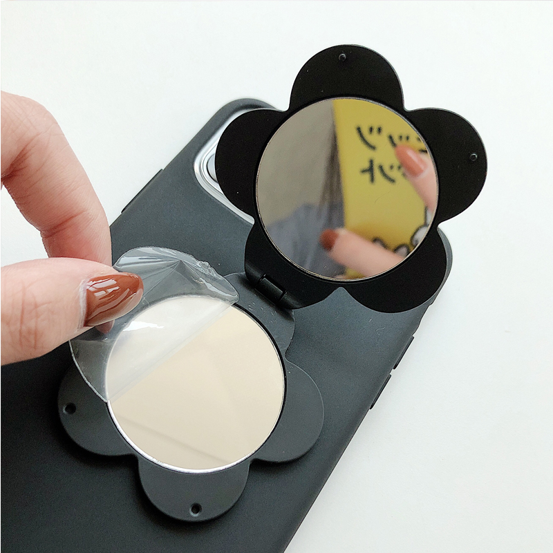 Fashional Makeup Mirror Phone Case For iPhone 11 Cellphone Cover Soft Matte TPU Flower Mobilephone Case For iPhone X