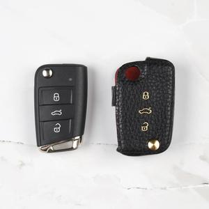 New Design Style Leather Car Key Case for VW-TIGUAN