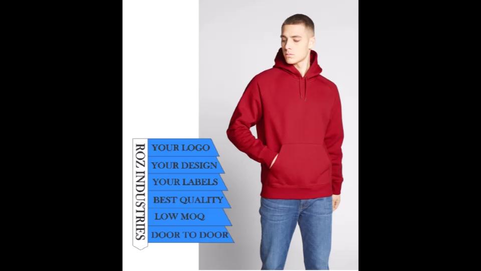 Grosir Besar Hoodie Kru Leher Hoodie Kualitas Tinggi Perancis Terry Cotton Hoodies Kaus