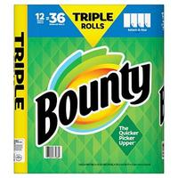Bounty Paper Towels Triple Rolls Case Pack 12 Mega Rolls