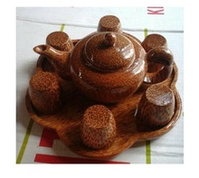 Beautiful coconut teapot/ wooden teapot made in Vietnam (Ms,Sandy 84587176063)