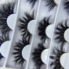 wholesale custom lash box 3d bottom full strip mink lashes dramatic mink eyelashes vendors 3d 25mm mink eyelash