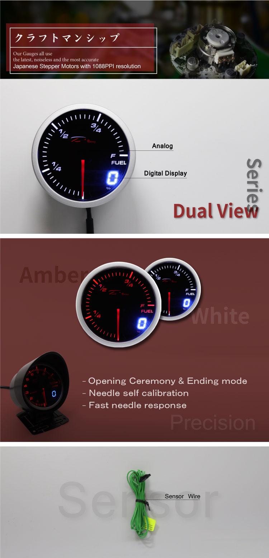 52mm hot koop Brandstofmeter voor auto en truck