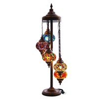 Traditional Istanbul Turkish Mosaic Art Glass Floor Lamp for Hotel and Home Decorative