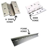STAINLESS STEEL PIANO DOOR AND BOX IRON MILD / ALUMINUM WINDOW BUTT HINGES