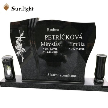simple monument tombstone designs absolute black China black granite tombstone headstone monument drawing for funeral