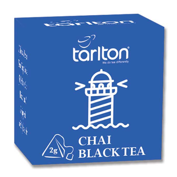 Chai Black Tea in Biodegradable Pyramid Tea Bags Individual in Boxes - Tarlton Travel Pack // Private Label Available