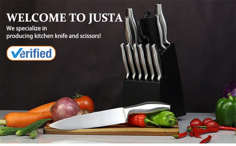 Wholesale Custom 15 Piece Stainless Steel Hollow Handle Kitchen Knife Set with Block Set