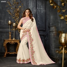 Fancy Blouse Designer Parel Diamant Kant Werkte Sarees Voor <span class=keywords><strong>Indiase</strong></span> Pakistaanse Vrouw Dragen